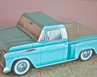 1957 Blue Chevy -car boxes-truck meal boxes-car snack boxes-cute kids boxes-kids party favors-vintage truck box