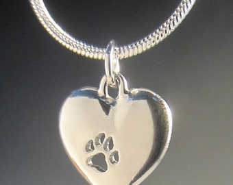 Small Paw On My Heart Necklace