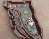 Florida Ashtray with Alligator design
