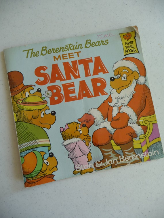 Berenstain Bears Old Book Cover : Vintage childrens book the berenstain bears by myvintagedreams