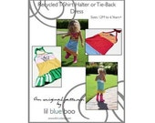 DIY Tutorial PDF Pattern - Recycled T-Shirt Halter/Tie-back Dress - Sizes 12M to 6 Years (plus)
