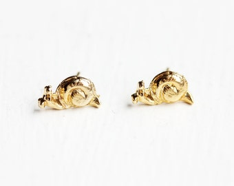 Gold Snail Studs