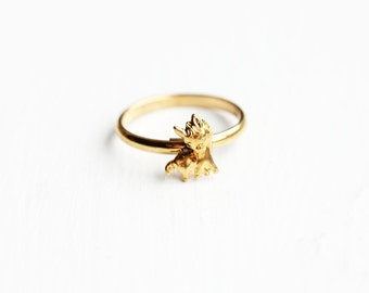 Gold Horse Ring