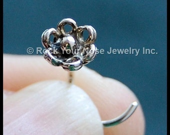 Flower Nose Stud - In My Garden - Sterling Silver - CUSTOMIZE