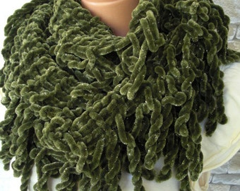 Knit  Scarf   Womens Scarf winter scarf  Circle Scarf  Infinity Scarf   Fringe scarf Gift wife Scarf  Winter Cozy  Sale  fashion Accessories