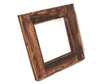 Rustic Wood Mirror - Country Decor