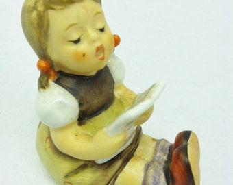 Goebel Hummel Figurine. West Germany.  Little Girl with Sheet Music