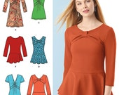 Misses' Top, Blouses or Mini Dresses - Simplicity 1539 - New Sewing Pattern, Sizes 14, 16, 18, 20, 22