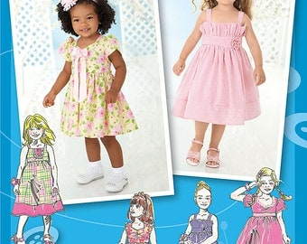 Toddlers' Dresses - Simplicity 2265 - Out-of-Print Sewing Pattern, Sizes 1/2, 1, 2, and 3