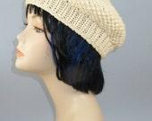 knitting pattern only-  Chunky Moss Stitch Beret Hat pdf download knitting pattern