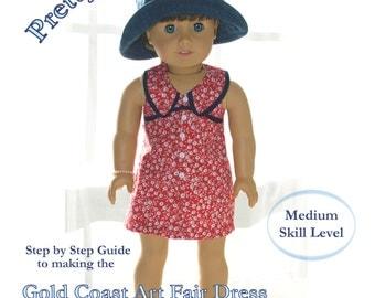 """Popular 18"""" doll Summer Dress Pattern - unlined"""