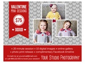 Valentine's Day Mini Session Marketing Board Template for Photographers INSTANT DOWNLOAD