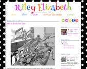 Premade Blogger Template Blog Design Theme Header - Installation Included - Black White Polkadot Multicolor Pink Teacher Riley Elizabeth