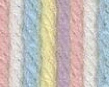 new BERNAT super value afghan yarn #28500 TWINKLE pastel multi variegated 5 ounce skein worsted acrylic knitting crochet baby nursery