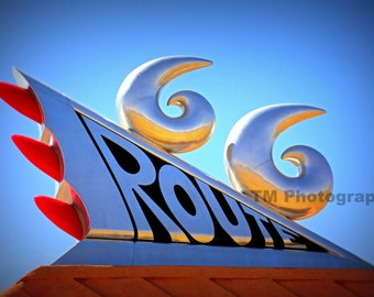 Route 66 - Route 66 Sign - Colorful Sign - Route 66 Monument - Dynamic Route 66 - Fine Art Photography