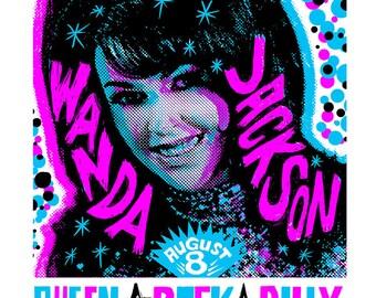 Wanda Jackson Screenprinted Poster
