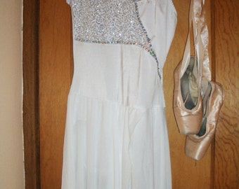 Costume- Adult  Dance Photo shoot Theater costume silver and white Halloween