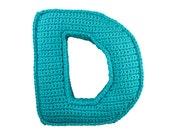 Crochet pattern Letter D - 3D pattern - Instant Download PDF by Bigunki