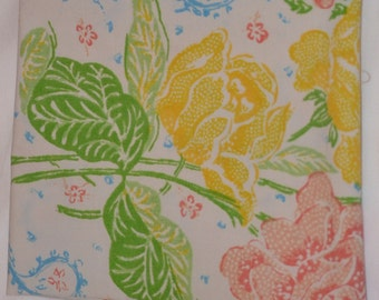 Vintage Sheet Fabric Fat Quarter- Stash Builder