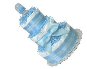 Blue baby centerpieces, Diaper centerpieces, Navy Blue Baby Shower Option, Boy Diaper Cakes, Boy Baby Shower Centerpiece, Diaper Cake