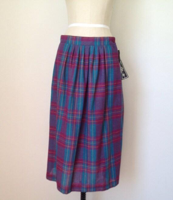 items similar to purple plaid skirt vintage a line swing