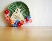 Crochet Sheep Coasters, Animal Coasters - set of 2