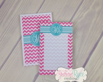 Personalized Chevron Notepads set of 2
