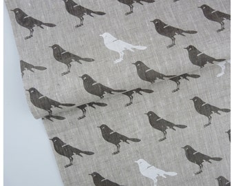 Gray Bird -Fabric by the yard - Free shipping to USA
