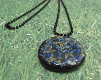 Shattered - Polymer Clay Pendant Necklace