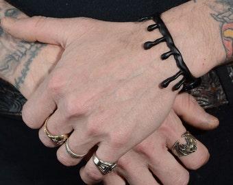 black drip bracelet - 2 PC SET