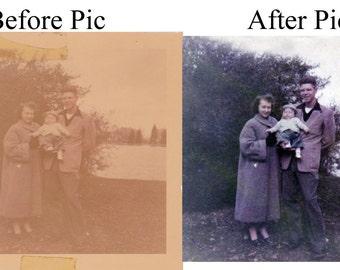 Photo Restoration (Digitally) Up to Three Photos