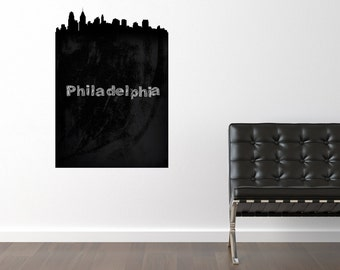Philadelphia Skyline Chalkboard Wall Decal