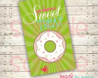 INSTANT DOWNLOAD Digital Custom Sweet Treat Teacher appreciation favor tag