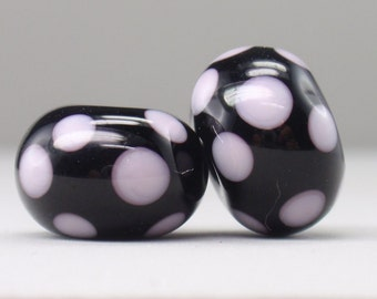 Earring Pair - 2 handmade lampwork beads - E 92