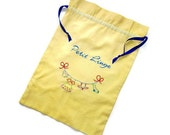 Custom Lingerie or Laundry Bag- Petit Linge Hand Embroidered on Your Color Choice