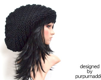 Super cool,Chunky black hat