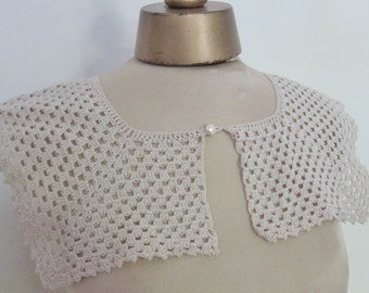 1930s lace collar, hand made trim, vintage dressmaking, square collar, 1930s fashion, crotchet  camisole, vintage yoke, antique collar