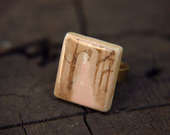 Romantic Era Wuthering Heights Inspired Hand Painted Adjustable Ring - Catherine Earnshaw