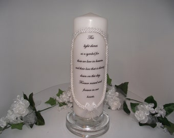 Memory candle, remembrance candle, pillar candle , memorial candle, for those we love in heaven