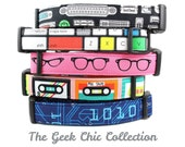 Geeky Dog Collars from Bow Wow Couture - the Geek Chic collection