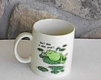 1970s Otagiri Japan Frog Mug