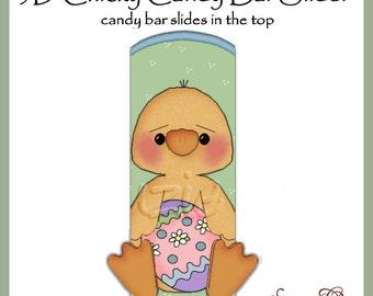 Boy Chicky Candy Bar Slider for Easter - Digital Printable - Immediate Download