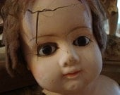 Vintage Victorian Shabby Macabre Doll Head AS IS