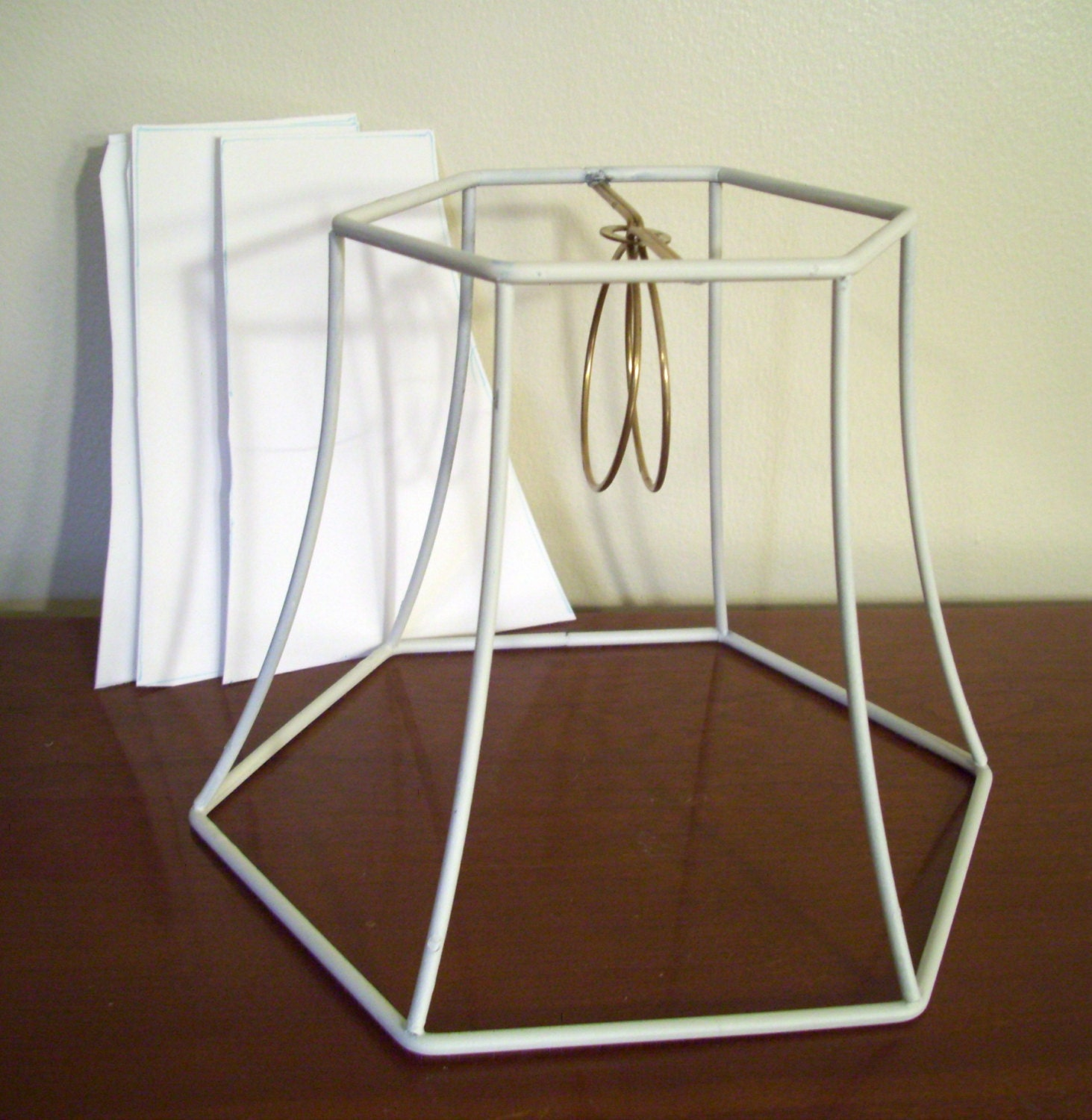 hex bell lampshade frame lamp shade supplies. Black Bedroom Furniture Sets. Home Design Ideas