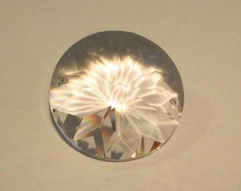 Set of 5 - 40mm Sunflower Chandelier Crystal Prism 1-HOLE Connector - Asfour FULL Lead Crystal (S-16)