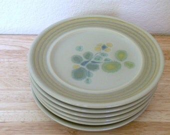 6 FRANCISCAN Pebble Beach Bread and Butter Plates