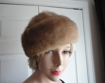 Vintage Blonde Mink Fur Women 60s Andre Canada Med 22 1/4 inches