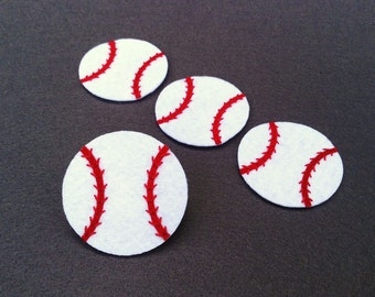 Baseball Felt Applique (Set of 4 pieces)