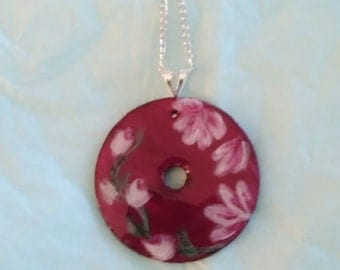 Washer Pendant handpainted