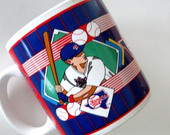 Vintage Texas Rangers Coffee Cup Baseball Collectible Souvenir Sports Impressions 1993